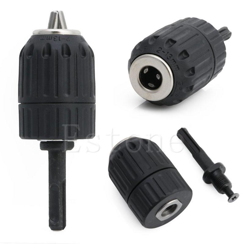 1/2-20UNF Pro HSS 13MM Keyless Drill Chuck Converter + SDS Adaptor Accessorie electric hammer keyless drill chuck with 1 2 inch sds adaptor shank impact fit cap 2 13mm drill bits