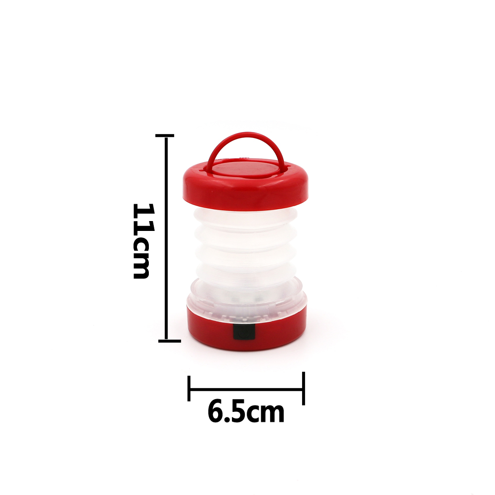 New 5 Leds Outdoor Camping Retractable LED Light Hiking Bivouac Camping Lantern Tent Lamp Use AAA battery