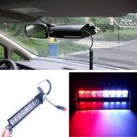 8 LED Red Blue Car Police Strobe Flash Light Dash Emergency Warning 3 Flashing Fog Lights