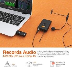 Image 4 - Fifine kablosuz yaka mikrofonu PC ve Mac için, kondenser mikrofon için USB alıcısı ile görüşme, kayıt ve Podcast