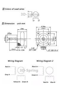 Титановый экструдер, шаговый двигатель, 4 свинца, Nema 17, 22 мм, 42 двигателя, 3D-принтер, экструдер для j-головки bowden, 12 В, 1 А, 16 Н. См