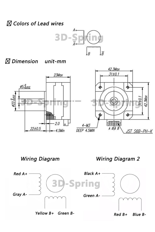 For 3D Printer Nema 17 Extruder 2 Phase 2pcs Stepper Motors Short Body 17HS4023