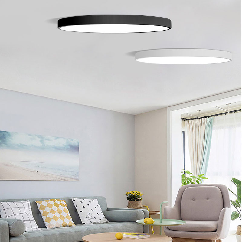 Ceiling Lights & Fans Ceiling Lights Modern Led Ceiling Light Dimmable Panel Lamp Lighting Fixture Living Room Bedroom Kitchen Surface Mount Flush Remote Control