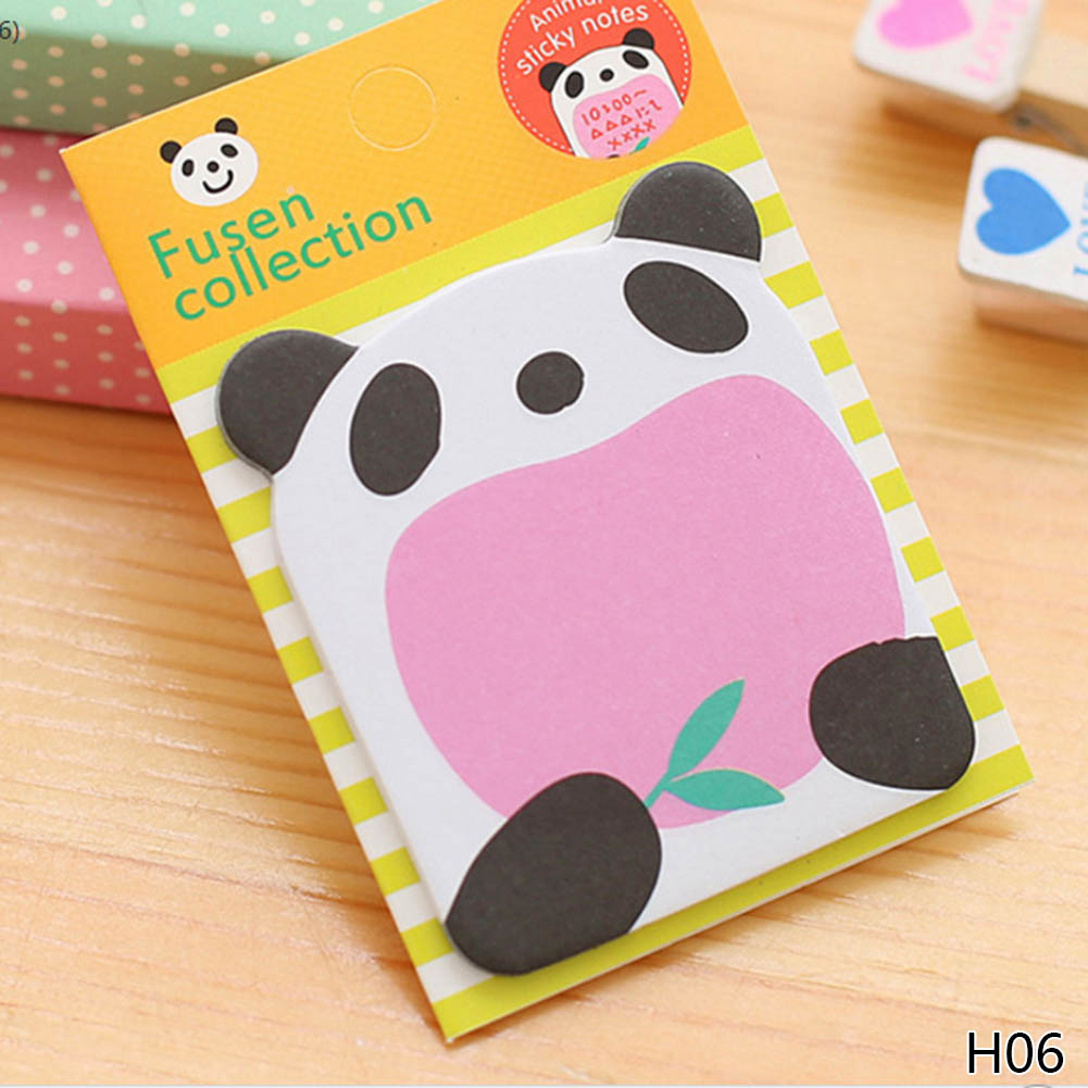 1 Stücke Cartoon Tiere Panda Katze Memo Pad Papier Sticky Notes Notizblock Kawaii Schreibwaren Papeleria Schule Liefert