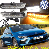2011 2015 2016 2017 Scirocco Daytime Light Free Ship LED Scirocco Fog Light 2ps Set Scirocco