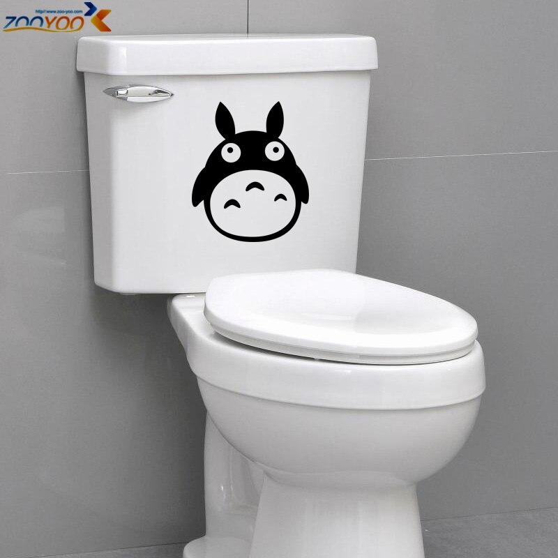 Прекрасный Тоторо Туалет наклейки 8301. DIY Съемный Арт Наклейки Home Decor животного adesivos де Паредес плакат 0.0