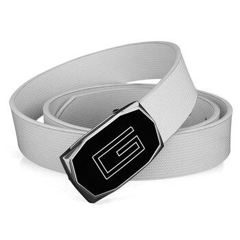 Negro hebilla de alta calidad de cuero genuino cinturón Hombres G Carta  marca de lujo blanco b68829757f0c