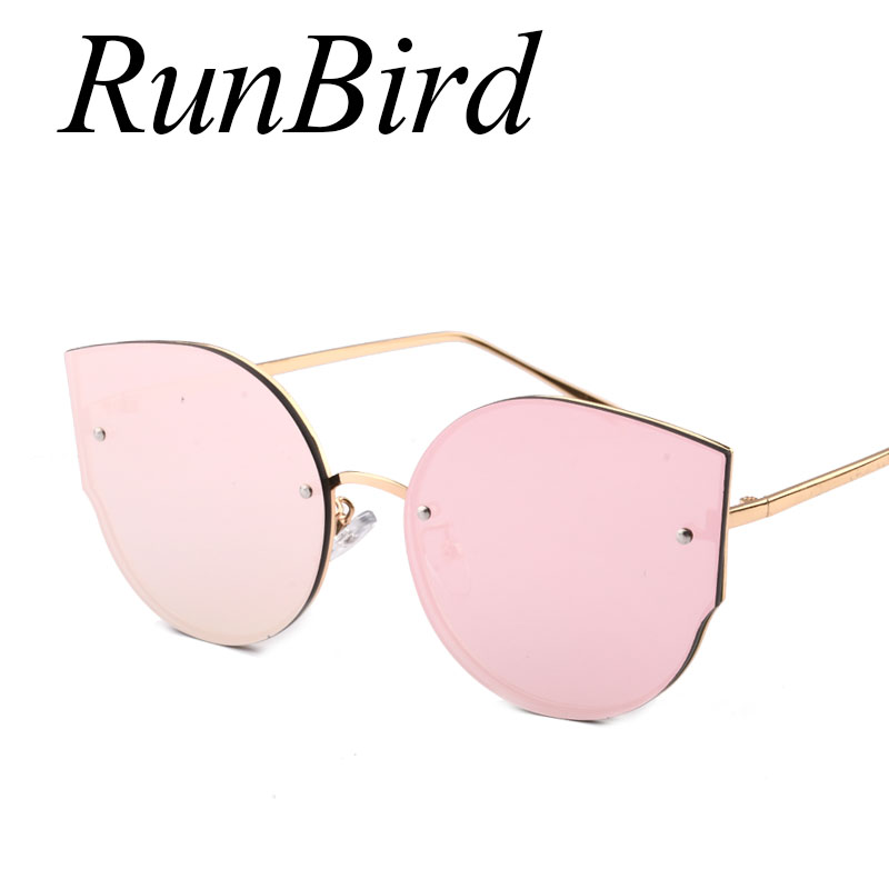 Fashion Sunglasses Women Round Cat eye Sunglasses UV400 High Quality oculos de sol feminino Metal Frame Colorful Glasses 740R 1