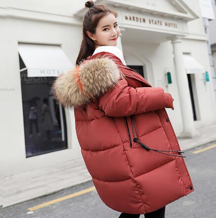 Winter Jacket Maternity Down Cotton Padded Warm Outwear Parkas Women Maternity Colorful Fur Hooded Thick Coat Pregnant Clothing new 2017 winter cotton coat women slim outwear medium long padded jacket thick fur hooded wadded warm parkas winterjas cm1634