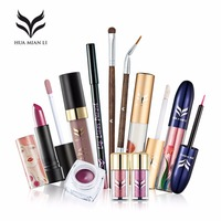 HUAMIANLI 10Pcs Lots Professional Makeup Sets For Women Face Lip Eye Beauty Tools High Quality Brand