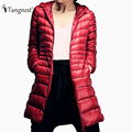 TANGNEST 2016 Women Casual Brief Solid Color High Quality Breathable Coat Plus Size Warm Outwear Parka WWY355