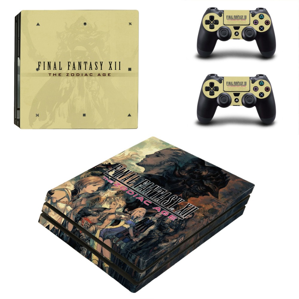 PS4 PRO FINAL FANTASY XII for Playstation 4 PRO Console Skin Decal Sticker + 2 Controller Skins Set (Pro Only)