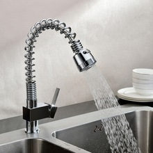 Superfaucet Кран Кухня Pull Out, Кухонный Кран Горячей И Холодной Воды, Кухонный Кран Смеситель Стены, Шланг Для Воды кран HG-1209DC