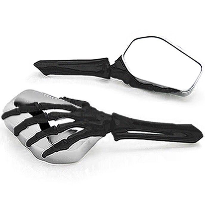 Tout nouveau squelette crâne main moto miroirs pour Harley Davidson Road Glide haute qualité noir personnalisé Ultra