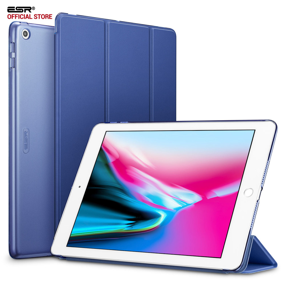 Case for iPad 9.7 inch 2017, ESR Yippee Color PU Leather+Ultra Slim Light Weight PC Back Cover Case for iPad 9.7 2017 New model back shell for new ipad 9 7 2017 genuine leather cover case for new ipad 9 7 inch a1822 a1823 ultra thin slim case protector