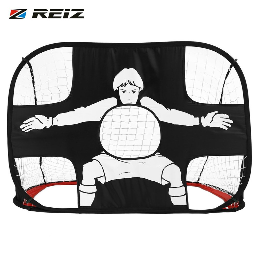 REIZ Foldable Football Gate Net Goal Gate Extra-Sturdy Portable Soccer Ball Practice Gate for Children Students Soccer Training
