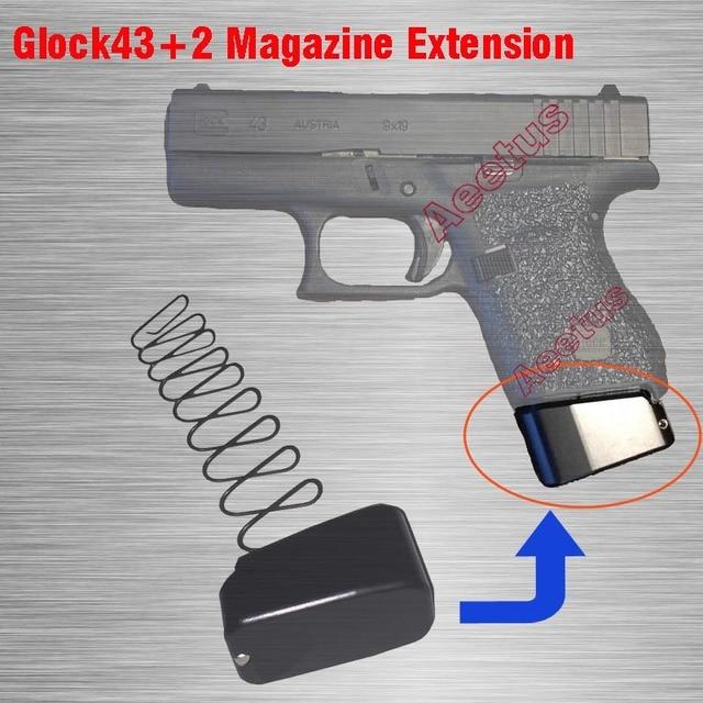 New Cnc Machined Magazines Base Pad For Glock 43 2 Magazine