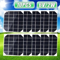 20w 10PCS Solar Cell Panel 6V Monocrystalline for Outdoor testing, teaching, small power generation mobile phone charging