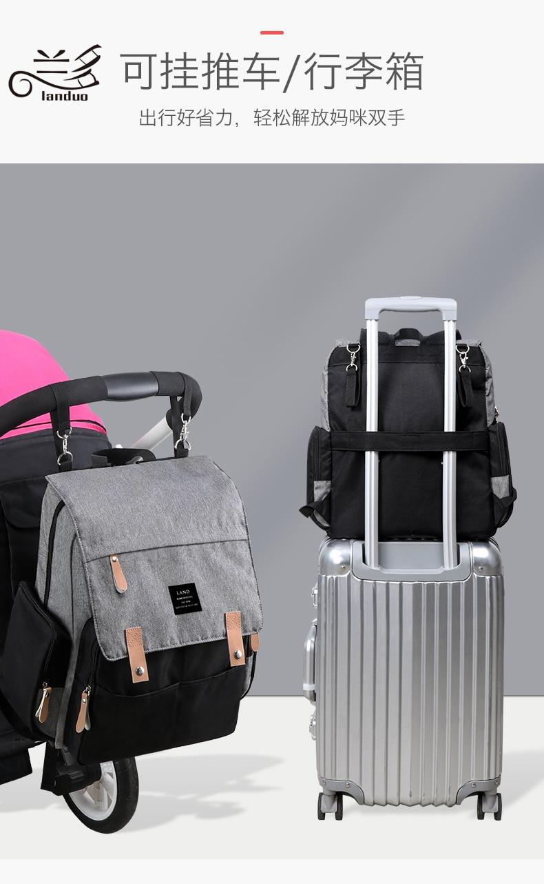 HTB1vI3TRCzqK1RjSZFjq6zlCFXaQ 2019 LAND Mommy Diaper Bags BACKPACK Landuo Mummy Large Capacity Travel Nappy Backpacks Convenient Baby Nursing Bags 11 types