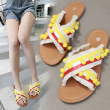 цены Bohemia Women Slippers summer Shoes sandalias Gladiator Beach Sandals Flats slides Sandalias Chaussure Female flip flops