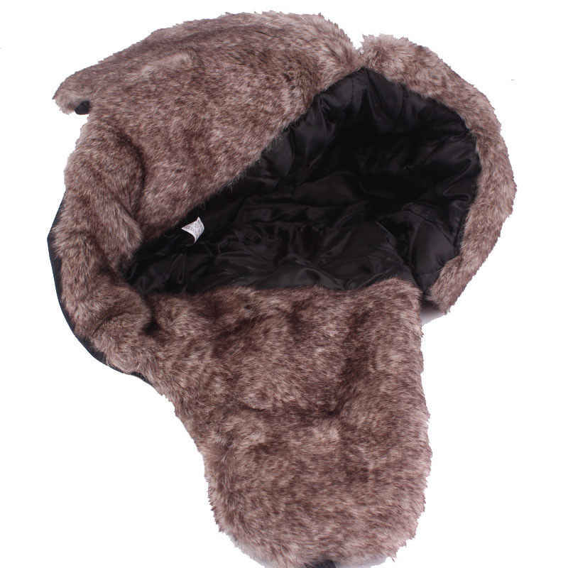 ae617f55126 ... Winter Trooper Trapper Pilot Aviator Russian Ushanka Style Ski Hunting Hats  Cap with Ear Flaps and ...