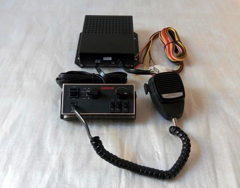 Amplificateurs d'alarme de voiture sirène de police étoile supérieure 100 W avec panneau de commande avec microphone pour police, ambulance, véhicules d'incendie ect.