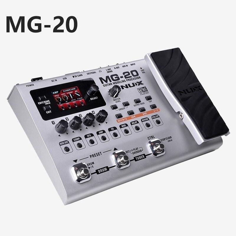 Électrique guitare effecteur multi-fonction guitare composition mise à niveau tuner tambour machine numérique Intégré guitare effets MG-20