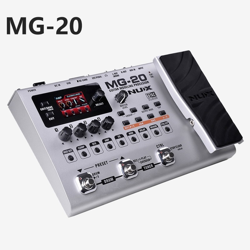 Electric guitar effector multi-function guitar composition upgrade stylesound tuner drum machine Integrated digital effects bravo audio booster guitar effector blue transparent dc 12v