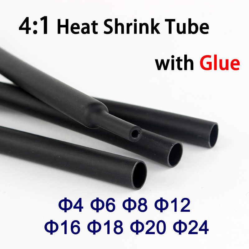 12mm 4:1 Heatshrink Heat Shrink Glue-Lined Tube Tubing Wire Sleeving Wrap Black