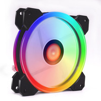 New 120mm LED CPU Cooler Set Quiet RGB Case Fan with Remote Control Adjustable Radiator for Computer EM88