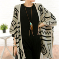 Fashion Women Knitted Blouse Long Thin Bat Cardigan Woman Casual Sweaters V Neck Tops pull femme Cardigans