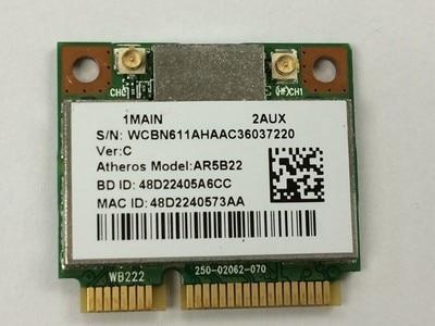 Atheros AR9462 AR5B22 WB222 Demi Mini PCIe 300 M + Bluetooth4.0 WLAN Wifi Sans Fil Carte