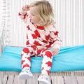 Розничная 2017 Летний Стиль Детская Одежда Детская Одежда Устанавливает Мальчики Хлопок Печати С Длинным Рукавом 2 шт. Baby Girl Одежда V20
