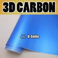 Премиум 3D жемчужно синий карбоновый виниловый обертывание жемчужно синий 3D карбоновая пленка Air Release Car wrap ping Размер: 1,52X30 м/рулон