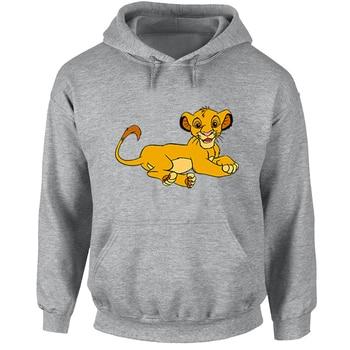 The Lion King Simba Turtle  Hoodies Men Women Animal Print Graphic Sweatshirt Jumper Pullover Cotton Hoody Coat Tops animal print off the shoulder sweatshirt