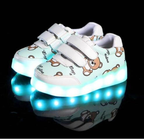 Kids Glowing Luminous Sneakers For Girls USB Charging Basket Led Toddler Children Shoes With Light Up Casual Boys lighting soleKids Glowing Luminous Sneakers For Girls USB Charging Basket Led Toddler Children Shoes With Light Up Casual Boys lighting sole