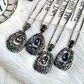 Camisola de inverno cadeia longo Colar de moda jóias charme feminino Trendy big Strass Gota de Água pingente Colares mulheres