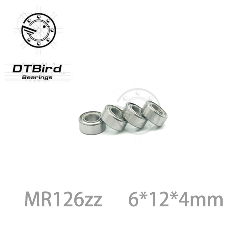 10pcs <font><b>MR126ZZ</b></font> MR126 ZZ 6x12x4mm Thin Wall Deep Groove Ball Bearing Mini Ball Bearing Miniature Bearing Brand New 6*12*4 mm image