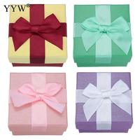 20PCs Set Paper Jewelry Set Boxes Cardboard Box 74x74x53mm Finger Ring Necklace Packing Box Blank DIY