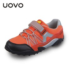 Uovo Brand Children Outdoor Shoes Boys Girls Light Sneakers New Spring Autumn Breathable Mesh Kids Running Sport Shoes EU26-35