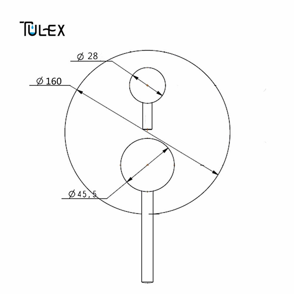 tulex black wall mixer concealed shower mixer chrome wall mounted valve two function shower diverter shower  [ 1000 x 1000 Pixel ]