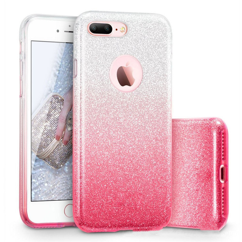 <font><b>Glitter</b></font> Hard PC <font><b>Case</b></font> For <font><b>iPhone</b></font> 7 6 6S Plus Star Cover Shining <font><b>Phone</b></font> <font><b>Cases</b></font> For <font><b>iPhone</b></font> X 10 6S 8 Plus XRXS MAX Capa 3 in 1 Coque image