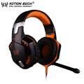 KOTION EACH G2000 Gaming Jogo Headphone Stereo Over-Ear Headset Headband Fone de Ouvido com Microfone/LED Luz para Computador PC Gamer