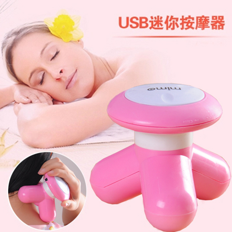 Mini Portable Head Full Body Massager Electric Handled Wave Vibrating Massager head massager USB Battery