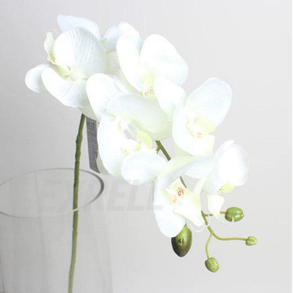 7 jefes phalaenopsis flores artificiales ramo de la boda decoración butterfly or