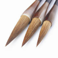 3Pcs/Set Weasel Hair Chinese Calligraphy Brushes Pen Wolf Hair Lian Brush Chinese Painting Brush the Four Treasures of Study