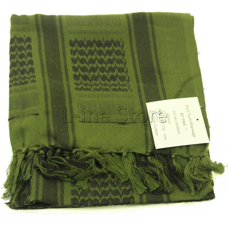 Army Green 100% Cotton Winter Scarves Military Tactical Keffiyeh Shemagh Arab Scarf Shawl Neck Cover Head Wrap Outdoor Hiking