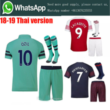 07c3afbe8be AAA+2019 Arsenal soccer jersey 18-19 Adult suit +socks AUBAMEYANG  MKHITARYAN OZIL