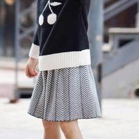 TBZ 2016 New Fashion Baby Girls Skirt Cute Cotton High Guality Wave Pattern Princess 1 5Yrs