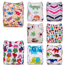 New Baby Diaper Cover Washable Adjustable Diapers Infant Cartoon Printing Change Reusable Nappy Toddler Cloth Diaper